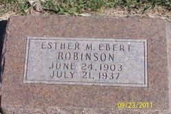 Esther May <i>Ebert</i> Robinson