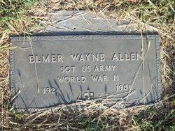 Sgt Elmer Wayne Allen
