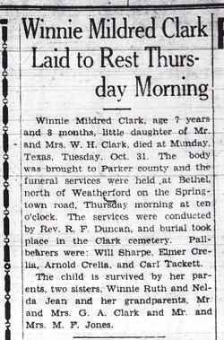 Winnie Mildred Clark