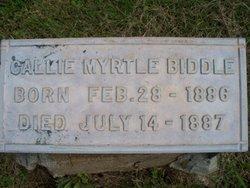 Callie Myrtle Biddle