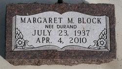 Margaret M. <i>Durand</i> Block