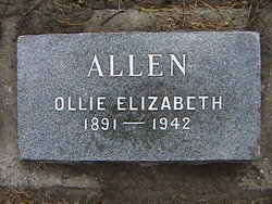 Ollie Elizabeth <i>Buchanan</i> Allen