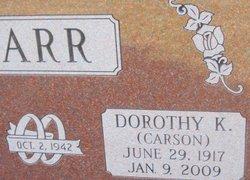 Dorothy K. <i>Carson</i> Barr