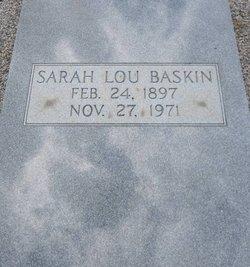 Sarah Lou <i>Moore</i> Baskin