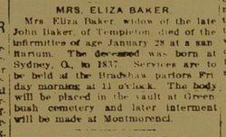 Elizabeth <i>Shill</i> Baker