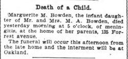 Marguerite M. Bowden