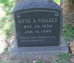 Sarah A Kittie <i>Jones</i> Foulkes