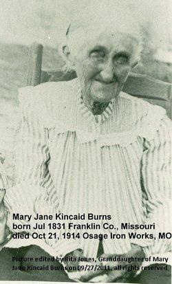 Mary Jane Jane <i>Kincaid</i> Burns