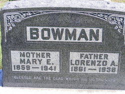 Mary E <i>Sherman</i> Bowman