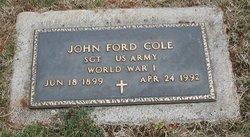 Sgt John Ford Cole