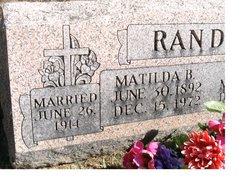 Matilda B Randall