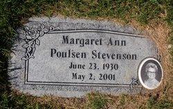 Margaret Ann Ann <i>Poulsen</i> Stevenson