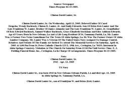 Clinton David Lanier, Sr