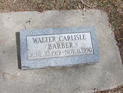 Walter Carlisle Barber