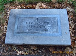 Mary <i>Kemper</i> Alexander