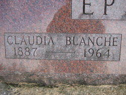 Claudia Blanche <i>Parmenter</i> Epler