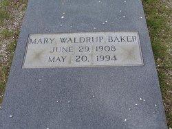 Mary Frances <i>Waldrup</i> Baker