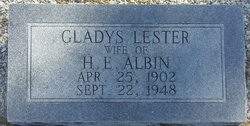 Gladys <i>Lester</i> Albin