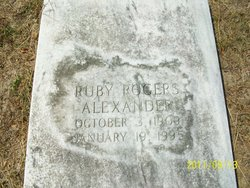 Ruby <i>Rogers</i> Alexander