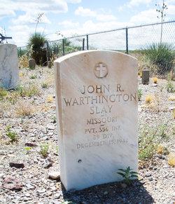 Pvt John Ray Warthington Slay
