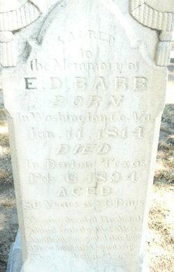 Elkanah Delaney Barb