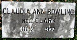 Claudia Ann <i>Clark</i> Bowling