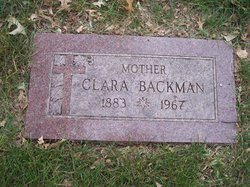 Clara Ana Wilhelmina <i>Wessel</i> Backman