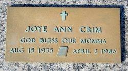 Joye Ann <i>Carlile</i> Crim