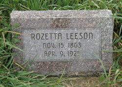 Rozetta <i>Oswalt</i> Leeson