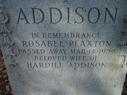Rosabel <i>Plaxton</i> Addison