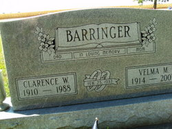 Velma Toots <i>Mathias</i> Barringer
