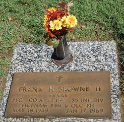 PFC Frank Harold Browne, II
