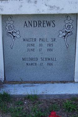 Mildred Lottie <i>Schwall</i> Andrews