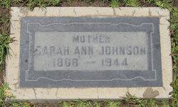 Sarah Ann <i>Sharp</i> Johnson