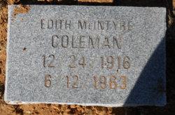 Mary Edith <i>McIntyre</i> Coleman