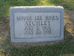 Minnie Lee <i>Rines</i> Atchley