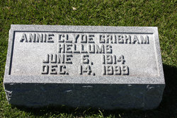 Annie Clyde <i>Grisham</i> Hellums