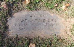 Mary O Walbridge