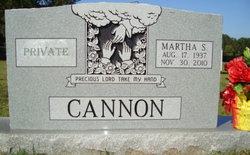 Martha S Cannon