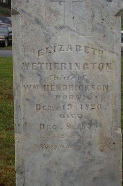Elizabeth <i>Wethington</i> Hendrickson
