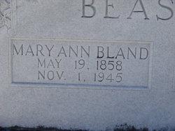 Mary Ann <i>Bland</i> Beasley