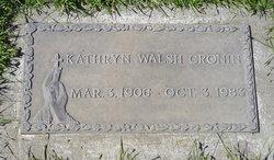 Kathryn <i>Walsh</i> Cronin