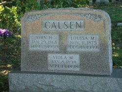 Louisa M <i>Mahlstedt</i> Calsen