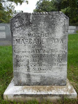 Margaret Ann <i>Eyler</i> Belleson