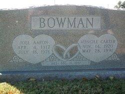 Voncile <i>Carter</i> Bowman