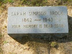 Sarah <i>Simpson</i> Brock