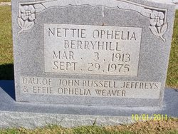 Nettie Ophelia <i>Jeffreys</i> Berryhill