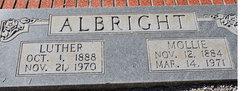 Mary E. Mollie <i>Ashmore</i> Albright