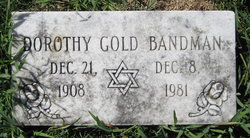 Dorothy <i>Gold</i> Bandman