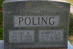 Harriett Lorena <i>Fleener</i> Poling